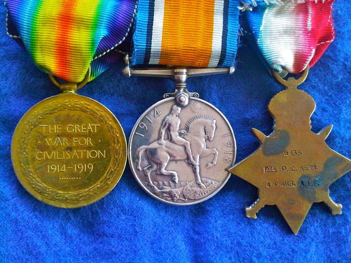 My grandfathers WWI medals